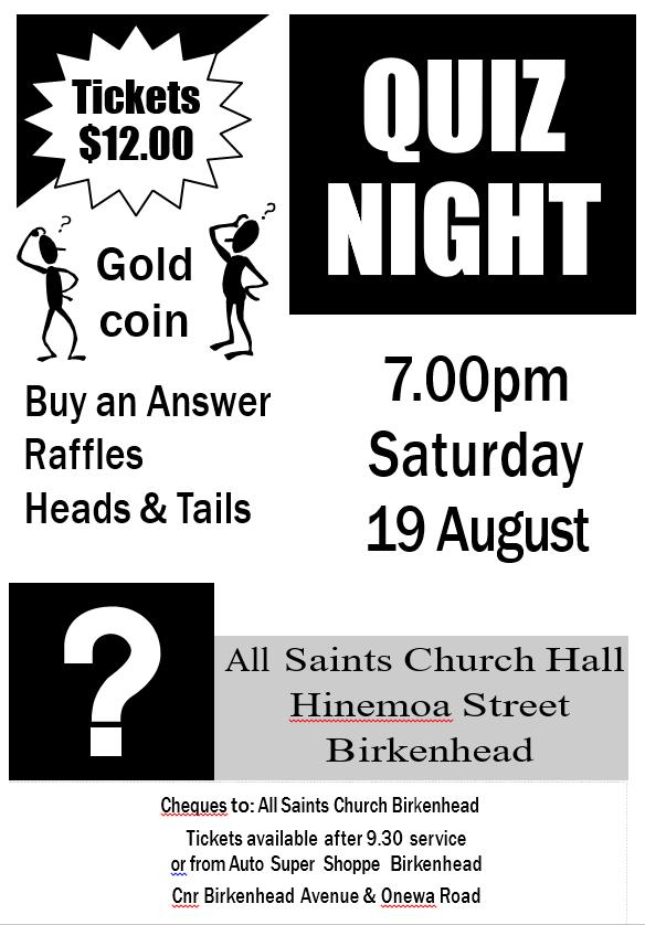 Quiz night 2017 poster