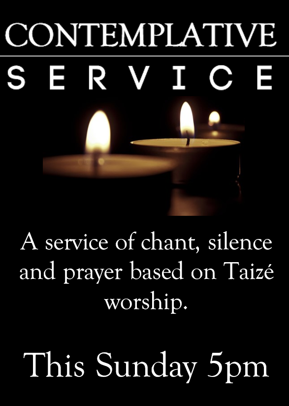 Contemplative service poster draft