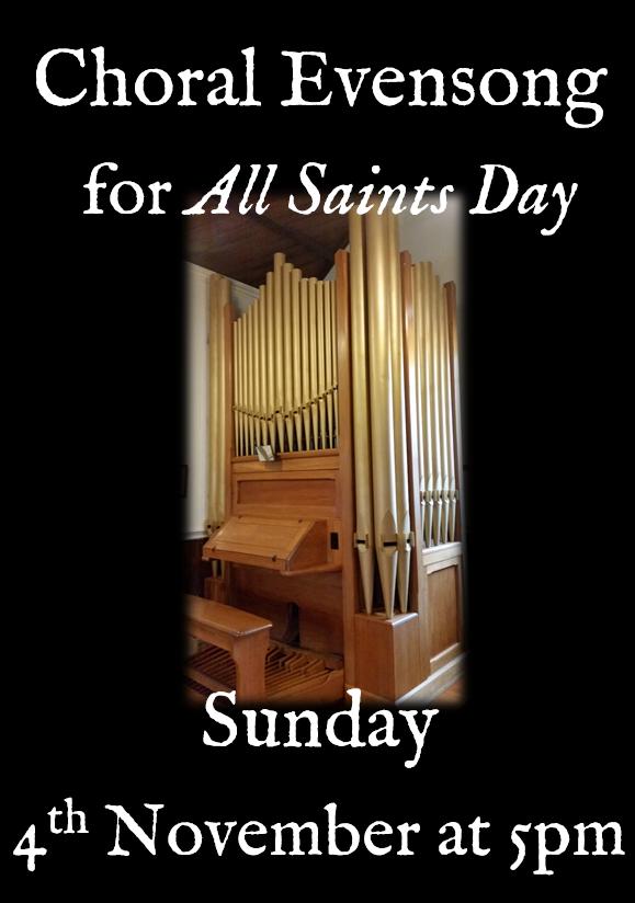 All Saints evensong poster draft